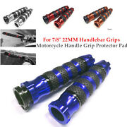 1 Pair Motorcycle Rubber Handle Grip Protector Pad For 7/8 22mm Handlebar Grips