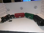 Nice Reproduction Cast Iron Train Set Of 1 Engine 1 Tender And 3 Passenger Cars