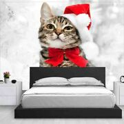 Red Christmas Hat Full Wall Mural Photo Wallpaper Printing 3d Decor Kid Home