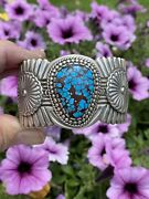 Egyptian Turquoise Cuff Cuff By Navajo Artist Arnold Blackgoat Native American