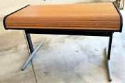1970and039s George Nelson For Herman Miller Action Office Roll Top Desk Mid Century