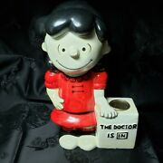 Vintage Peanuts - Lucy Candle Holder The Doctor Is In Hallmark Candles - Japan