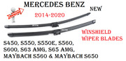 Windshield Wiper Blade Set For Mercedes Maybach S560 S650 S550e S550 S63amg S450