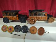 C1920 American Yellow Cab / Taxi Tin Litho Wind-up Clockwork Toy Parts
