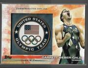 Awesome 2012 Topps Olympic Garrett Weber-gale Usoc Pin Card Usa Swimming Great