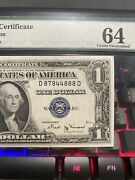1935b Us 1 Dollar Silver Certificate Pmg 64 Choice Trinary Number 87844888 Unc