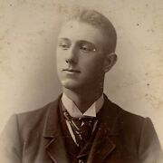 Antique Cabinet Card Photograph Handsome Young Man Pifer And Becker Cleveland Oh