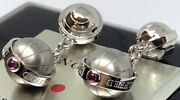 Dunhill Limited To 1300 Ruby Cuffand039s Button Cufflinks Menand039s From Japan Excellent