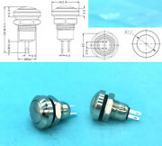 Metal Copper 2-pin 8mm Waterproof Momentary On/off Push Button Round Spst Switch