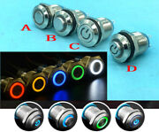 Metal 5 Color 12mm Waterproof Momentary On/off Push Button Round Spst Switch