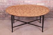 Kittinger Hollywood Regency Faux Bamboo Cocktail Table Circa 1950s