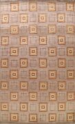 Brown Geometric Gabbeh Oriental Area Rug Hand-knotted Living Room Carpet 10x14