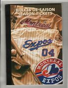2004 Montreal Expos - Complete Year Tickets Book - Complete