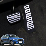 For Volvo Xc60 2018-2019 Aluminum Alloy Accelerator Pedal Pads Cover Kit 2p Set