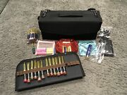 Lipsense Huge Lot. 59 Lip Colors, Eyeshadows Carrying Case Gift Bags Remover.