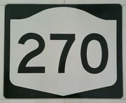 Authentic Retired Route 270 Highway Metal Reflective Street Road Sign 30x24