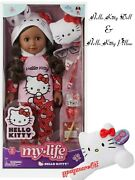 My Life As Hello Kitty 18 Poseable Doll African American + Hello Kitty Pillow
