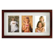 4x6 Triple Matted Wood Picture Frame Walnut - Lawrence Frames