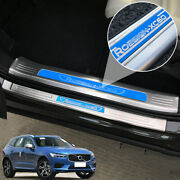 For Volvo Xc60 2018 2019 Steel Door Sill Scuff Welcome Pedal Protector Cover 8x