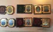 Lot Of 6 Ninth Plate Union Cases With Ambrotypes Tintypes And Daguerreotypes