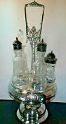 Aesthetic Silver Plated Cruet Stand Oil Vinegar Middletown Silver Co.ct