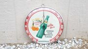 Vintage Advertising 1959 Canada Dry Round Pam Thermometer Store Display