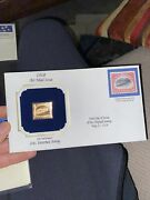 Air Mail Issue Of May 13, 1918 24 Cent Inverted Jenny Gold Stamp Replica 208