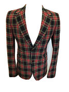 🌟🌟holiday Party Red Plaid Suit 38r Jacket 32 Waist Size Nwot Stunning