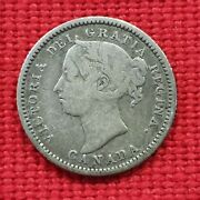 Vicuscoin - Canada - Silver - 10 Cents - Queen Victoria - Year 1886 Vf