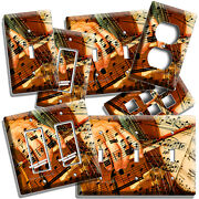Cello Hand Music Sheet Notes Light Switch Outlets Wall Plates Studio Room Decor