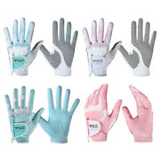 Womenand039s Left Right Hand Soft Breathable Golf Gloves Non Slips Sports Gloves Pair