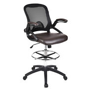 Office Chair Drafting Stool Chair Adjustable Height With Flip-up Arms Home Study