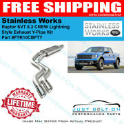 Stainless Works 2011-2014 Raptor Svt 6.2 Crew Lightning Style Exhaust Y-pipe Kit