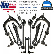 Front End Steering Rebuild Package Kit - Rear Wheel Drive Dodge Charger 2006-10
