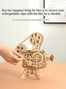3d Mechanical Puzzle Wood Vintage Film Projector Robotime Free Shipping