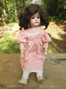 """Antique German Dressel 23"""" Bisque Doll 1912-4 Jointed Composition Body"""
