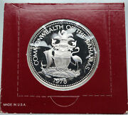 1978 The Bahamas Islands Two Flamingos Vintage Proof Silver 2 Dollar Coin I86916