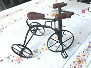 Toy Wooden Tricycle Wooden Antique Doll
