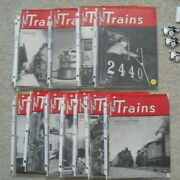 Lot Of 12 Different Complete Year Vintage 1949 Trains Magazines