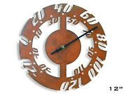 Outdoor Thermometer / Rustic Metal Art / Indoor Wall Decor Steampunk Radial Iv