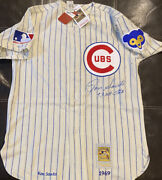 1969 Chicago Cubs Ron Santo Signed Auto Mandn Throwback Jersey