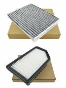 Combo Set Engine And Carbon Cabin Air Filter For Kia Soul L4 1.6 2.0 2014-2019