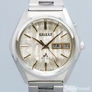 Orient Chrono Ace Self-winding 1970s Shell Stainless Steel Menand039s Watch[b1025]