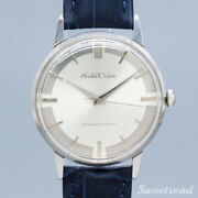 Seiko Crown Ref.15002 1961 Silver Dial Manual Leather Belt Ss Menand039s Watch[b1025]