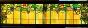 Great Antique Stained Glass Grape Trellis Window