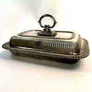 Antique English Silver Plate Entree Dish Serving Bowl Tureen Jsands 1858