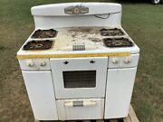 Vintage Tappan Deluxe Gas Range Kitchen Stove From Estate