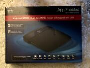 New Cisco Linksys Ea3500 Dual Band N750 Router With Gigabit And Usb
