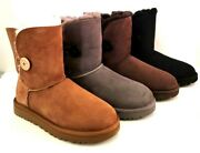 New Ugg Womens Bailey Button Ii Boots Size 5, 6, 7, 8, 9, 10 Che, Grey, Cho, Blk