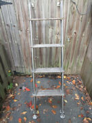 Stainless Steel Marine Boat Yacht Pontoon 5 Step Ladder 63 With 18 Steps